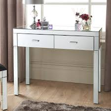 mirrored console vanity table florence console table living room furniture b m stores