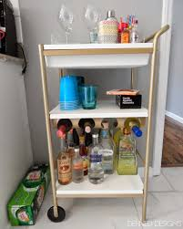 Sunnersta Ikea by Liquor Cart Ikea Diy White Gold Bar Cart Ikea Hack Sara Du Jour