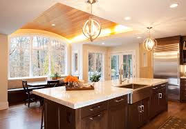 kitchen recessed lighting ideas creative kitchen decorations with recessed light on curved wood