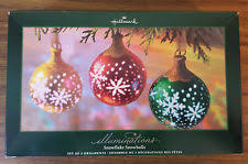 hallmark illuminations snowflake ornaments ebay