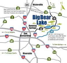 Traffic Map San Diego by How To Get To Big Bear Lake