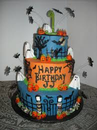 Halloween Bundt Cake Decorations by Halloween Themed 1st Birthday Cake Cakecentral Com
