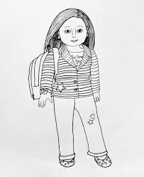 american doll coloring pages to print free printable 4019