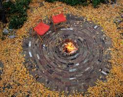 Round Brick Fire Pit Design - kingbird design llc brick patio with fire pit