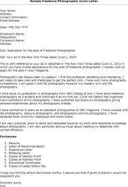 photographer cover letter sample