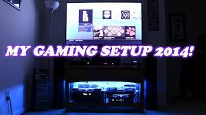 my gaming setup 2014 samsung 60