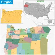 map of oregon with counties map of oregon state designed in illustration with the counties