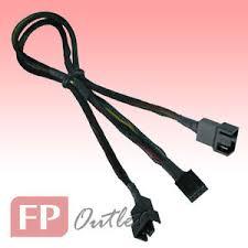 chassis fan connector splitter gelid pwm y cable splitter adapter connector share pwm connect 2x