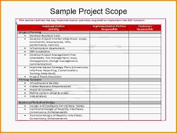 8 project scope statement examples letter template word