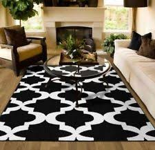 Checkered Area Rug Black And White Black And White Rug Ebay