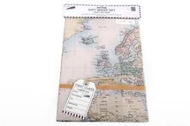 map wrapping paper roll map gift wrap ebay