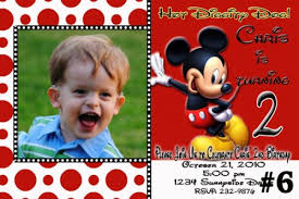 mickey mouse personalized photo birthday invitation you