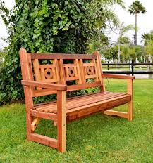 No Cushion Outdoor Furniture - outdoor wooden bench with design for garden seating