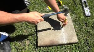 How To Cut Patio Pavers How To Split A Paver With A Chisel