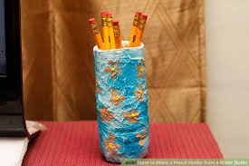 How To Paint A Flower Vase 3 Ways To Make A Pencil Holder From A Water Bottle Wikihow