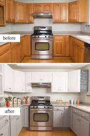 kitchen makeovers with cabinets pretty before and after kitchen makeovers noted list