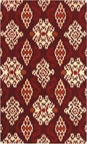 Modern Red Rug by Floors U0026 Rugs Oriental Red Ivory Ikat Rug