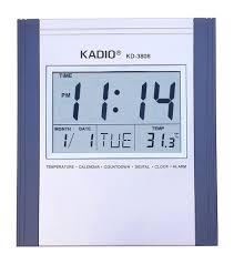 wall mounted digital alarm clock buy zesi stylish kadio digital wall mount u0026 table temperature