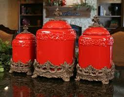 red kitchen canisters red large ceramic canister set special order 169 60 home decor