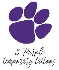 tiger paw temporary purple set of 5 magnolia and scout