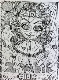 creepy coloring pages zombie coloring book for you to color have by chubbymermaid