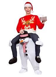 carry me mascot snowman fancy dress dress up parties costume