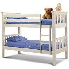 Julian Bowen Barcelona Single Bunk Bed Stone White Amazoncouk - Single bunk beds