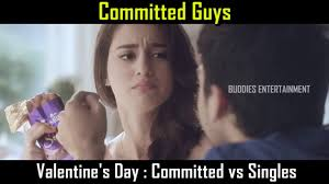 Valentines Day Memes Single - valentine s day committed vs singles youtube