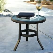 Wrought Iron Patio Side Table Side Table Other Collections Of Folding Outdoor Side Table Black