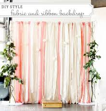 wedding backdrop tutorial diy ribbon backdrop tutorial this is a great idea for the