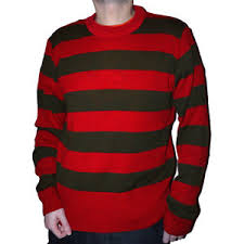 red green striped stripey freddy krueger knitted halloween jumper