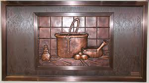 kitchen mural backsplash idea kitchen backsplash design using unique cast metal