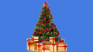 xmas tree with sparkling stars blue black screen effect youtube