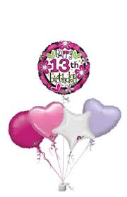 delivery of balloons for birthdays happy 13th birthday girl balloons age balloon delivery