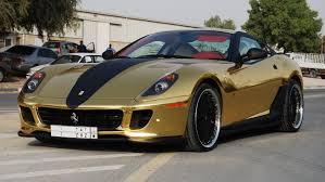 gold and black ferrari gold ferrari 599 gtb fiorano v12 612 hp 0 100 km h 62 mph in 3 7