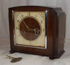 Chiming Mantel Clocks Square Art Deco Smiths Mantel Clock With Cream Dial U0026 Chime In Oak