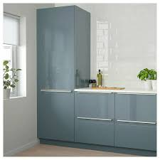 ikea frosted glass kitchen cabinets ikea kallarp 18x40 door high gloss grey turquoise new in box