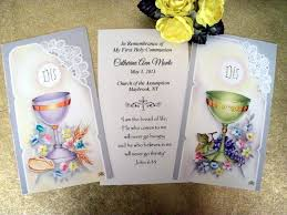 communion favor ideas personalized holy communion favor cards assorted chalice