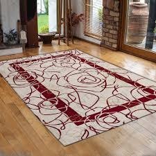tappeto moderno rosso tappeto in ciniglia camelia rosso linea velour made in italy
