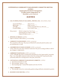 Safety Committee Meeting Agenda Template by Copper Gazette November 2012