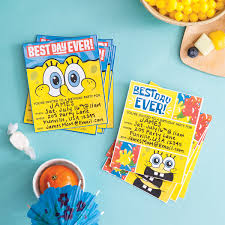 plan a spongebob squarepants party nickelodeon parents