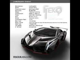 lamborghini veneno specifications engine voice