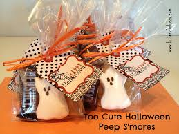 Halloween Wedding Favors Too Cute Halloween Peep S U0027mores