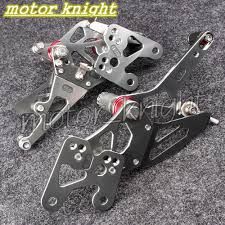 aliexpress com buy cnc adjustable racing rearset foot pegs fit