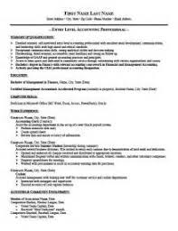 Entry Level Accountant Resume Professional Accounting Resume Writers The Army Resume Builder