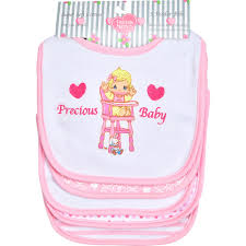 baby gifts u201cprecious baby bibs u201d 5 pack girls soft cotton terry