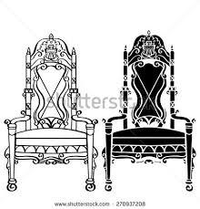 Chair Armchair Vintage Furniture Set Chair Armchair Throne Stock Vector 252215224