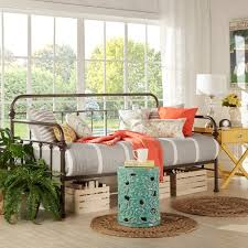 giselle antique graceful lines iron metal daybed by inspire q
