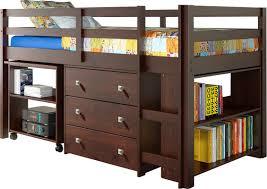 Twin Bed Viv Rae Zechariah Twin Low Loft Bed With Storage U0026 Reviews Wayfair