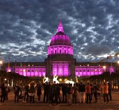 sf city hall lights landmarks and monuments across the us light up in purple to honor